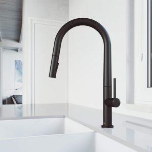 VIGO VG02029MB Greenwich 18 Inch Single Handle Brass Kitchen Faucet