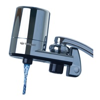 Instapure F5 COMPLETE Tap Water Filtration System (Chrome with Chrome Cap) + 1 Filter