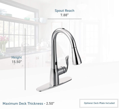 Moen 7594ESRS Arbor Motionsense Two-Sensor Touchless Kitchen Faucet installation