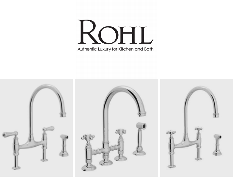 Rohl high end kitchen faucet brands