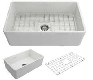 BOCCHI 1138-001-0120 Classico Apron Front Fireclay Kitchen Sink