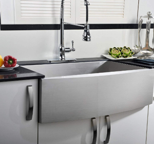 Comllen Commercial 33 Inch 304 Stainless Steel Farmhouse Sink