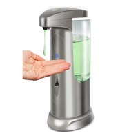 Hanamichi Soap Dispenser, Touchless High Capacity Automatic Soap Dispenser Equipped w Infrared Motion Sensor Waterproof Base Adjustable Switches