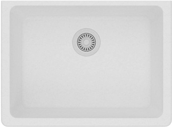 Elkay Quartz Classic ELGU2522WH0 Single Bowl Undermount Sink, White
