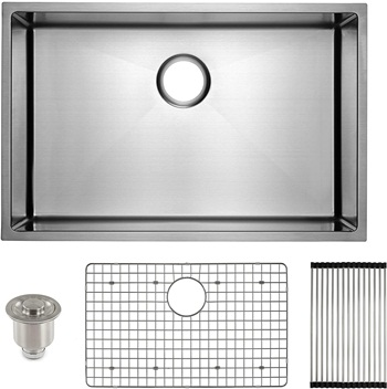 FRIGIDAIRE Undermount Stainless Steel Kitchen Sink, 16 Gauge, Deep Basin