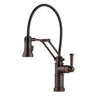 Brizo 63225LF-RB Venetian Bronze Artesso Single Handle Articulating Arm Kitchen Faucet