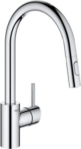 GROHE 32665003 Concetto Dual Spray Pull-Down Kitchen Faucet, Starlight Chrome