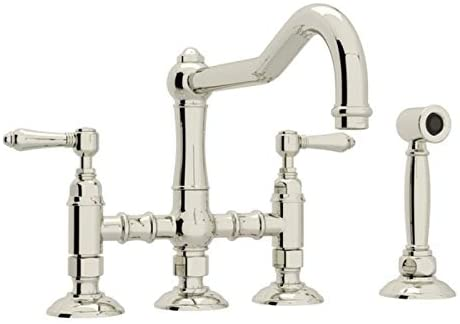 Rohl A1458LMWSPN-2 KITCHEN FAUCETS, Polished Nickel