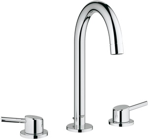 Concetto L-Size 2-Handle 3-Hole Bathroom Faucet