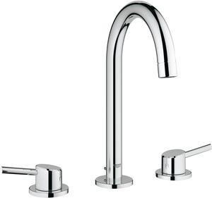 Concetto L-Size 2-Handle 3-Hole Bathroom Faucet