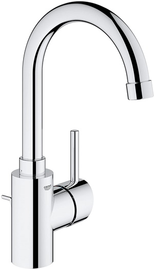 Concetto L-Size Single-Handle Single-Hole Bathroom Faucet