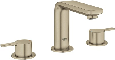 Grohe 20578ENA Lineare M-Size Bathroom Faucet with Fixed Spout, Brushed Nickel