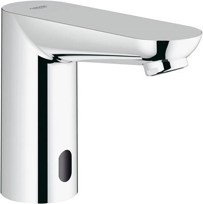 Grohe 36314000 Euroeco Cosmopolitan E Single Hole Touchless Electronic Bathroom Faucet, Starlight Chrome