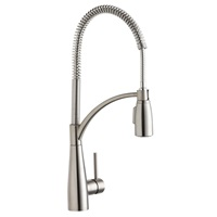 Elkay LKAV4061LS Single Hole Kitchen Faucet with Semi-professional Spout and Forward Only Lever Handle, Lustrous Steel