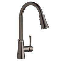 Elkay LKGT3031AS Gourmet Antique Steel Single Lever Pull-down Spray Kitchen Faucet