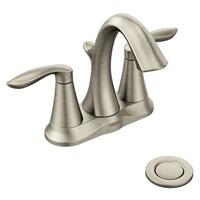 Moen 6410BN Eva Two-Handle Centerset Bathroom Faucet