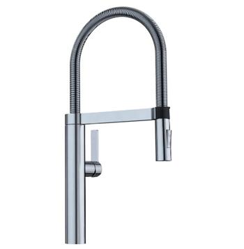 BLANCO, Satin Nickel 441332 CULINA Semi-Pro Kitchen Faucet with Magnetic Handspray