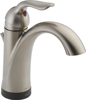 Delta Faucet Lahara Single Hole Bathroom Faucet Brushed Nickel, Touchless Bathroom Faucet, Diamond Seal Technology, Drain Assembly, Stainless 538T-SS-DST, 5.50 x 2.44 x 5.50 inches