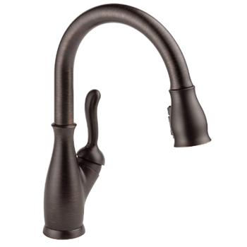 Delta Faucet Leland Single-Handle Kitchen Sink Faucet with Pull Down Sprayer, ShieldSpray Technology and Magnetic Docking Spray Head, Venetian Bronze 9178-RB-DST
