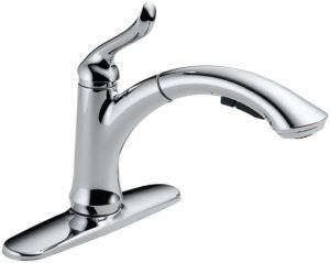 Delta Faucet Linden Single-Handle Kitchen Sink Faucet with Pull Out Sprayer