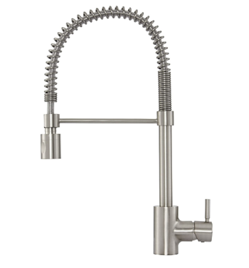 Gerber DH451188SS Foodie Single Handle Pre-Rinse Kitchen Faucet, Stainless Steel