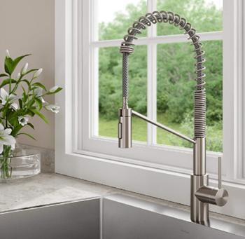 Kraus KPF-2631SFS Oletto Single Handle Commercial Kitchen Faucet