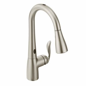 Moen 7594ESRS Arbor Motionsense Two-Sensor Touchless One-Handle Pulldown Kitchen Faucet