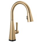 Delta Faucet Lenta Single-Handle Touch Kitchen Sink Faucet with Pull Down Sprayer, Touch2O and ShieldSpray Technology