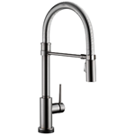 Delta Faucet Trinsic Pro Single-Handle Spring Spout Touch Kitchen Sink Faucet with Pull Down Sprayer, Touch2O Technology