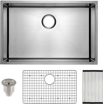 FRIGIDAIRE Undermount Stainless Steel Kitchen Sink, 16 Gauge, Deep Basin