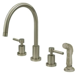 Kingston Brass KS8728DL Concord Widespread Kitchen Faucet with Sprayer