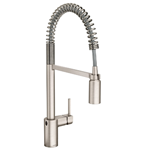 Moen 5923EWSRS Align Motionsense Wave Sensor Touchless One-Handle High Arc Spring Pre-Rinse Pulldown Kitchen Faucet