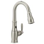Moen 7185ESRS Brantford Motionsense Two-Sensor Touchless One-Handle High Arc Pulldown Kitchen Faucet