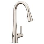 Moen 7864EWSRS Sleek Motionsense Wave Sensor Touchless One-Handle High Arc Pulldown Modern Kitchen Faucet