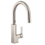 Moen S72308ESRS STo Motionsense Two-Sensor Touchless One-Handle Pulldown Kitchen Faucet