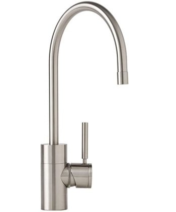 Waterstone 3800-SS Parche Single Handle Kitchen Faucet, Solid Stainless Steel
