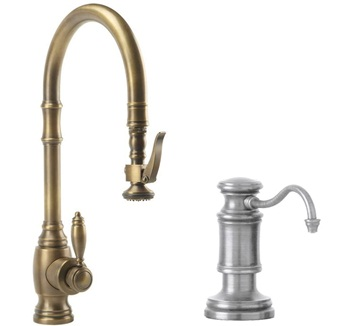 Waterstone 5600-2-AP Annapolis Kitchen Faucet Single Handle with Pull Out Spray