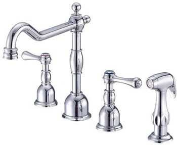 Danze D422057 Opulence Two Handle Kitchen Faucet with Side Spray, Chrome
