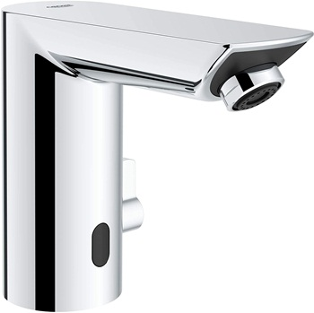 GROHE 36469000 Bau Cosmopolitan E Touchless Electronic Faucet with Temperature Control Lever, AC-Powered, Starlight Chrome