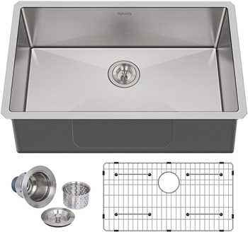 Hykolity 30-inch Kitchen Sink, 16 Gauge Undermount Single Bowl Stainless Steel Sink