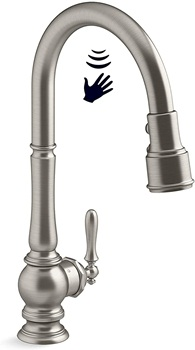 KOHLER K-29709-VS Artifacts Kitchen Sink Faucet, Vibrant Stainless