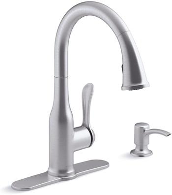 Kohler K-R23863-SD-VS Motif Kitchen Sink Faucet, Vibrant Stainless