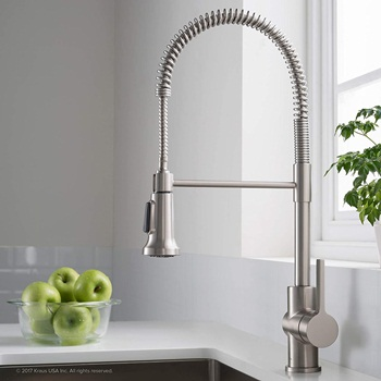 Kraus KPF-1690SFS Britt Pre-Rinse Commercial Kitchen Faucet with Dual Function Sprayhead in all-Brite Finish, Spot Free Stainless Steel
