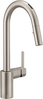 Moen 7565EVSRS Align U by Moen Smart Pulldown Kitchen Faucet with Voice Control and MotionSense, Spot Resist Stainless