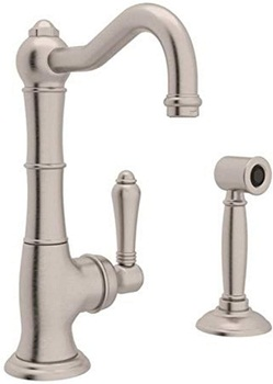 Rohl A3650LMWSSTN-2 KITCHEN FAUCETS, 11.00 x 7.00 x 9.00 inches, Satin Nickel
