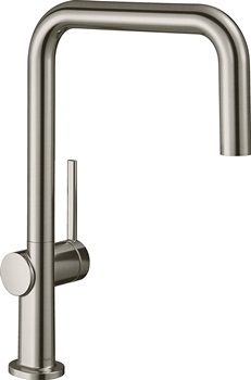 hansgrohe Talis N 1-Spray U-Style Kitchen Faucet 1-Handle 13-inch Tall in Steel Optic, 72806801