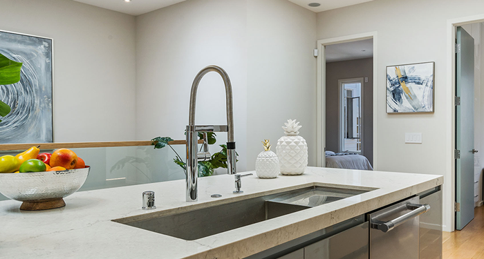 Decide which item is most important to invest in sink or faucet